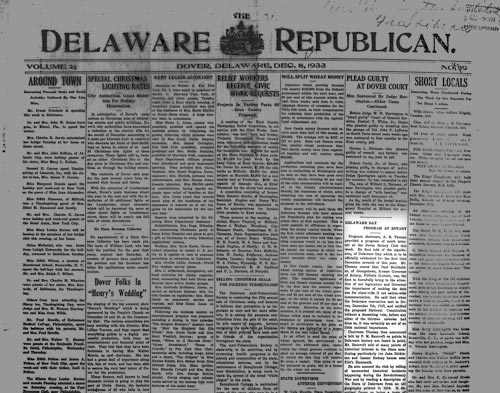 Photo of the Delaware Republican from 1933