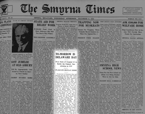 Photo of the Smyrna Times from 1933