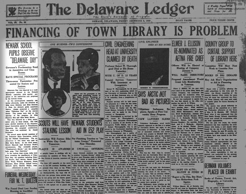 Photo of the Delaware Ledger from 1933